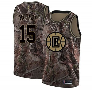 Men's Johnathan Motley Los Angeles Clippers Nike Swingman Camo Realtree Collection Jersey
