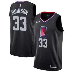 Youth Wesley Johnson Los Angeles Clippers Nike Swingman Black Jersey - Statement Edition
