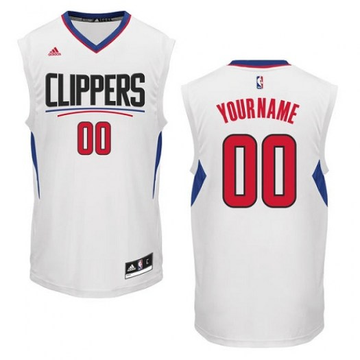 Women's Custom Los Angeles Clippers Adidas Authentic White ized Home Jersey