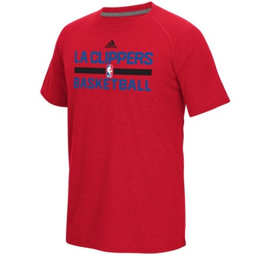 Men's Los Angeles Clippers Adidas Red On-Court Climalite Ultimate T-Shirt -