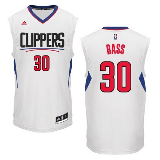Men's Brandon Bass Los Angeles Clippers Adidas Authentic White Home Jersey